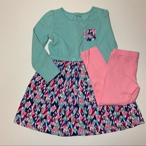 Gymboree Pocket Dress with Leggings Outfit 3T